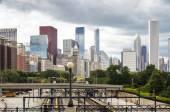 Train infrastructure in Chicago, Illinois — Stock Photo