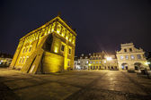 Centro de la ciudad de Sandomierz, Polonia — Foto de Stock