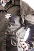 Close up of sheriff badge — Stock Photo
