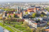 Panorama of beautiful Krakow, former capital city of Poland, Eur — Foto de Stock