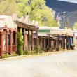 Buildings in Taos, which is the last stop before entering Taos P — Stock Photo #76016897