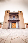 Taos Puebloremarkable example of a traditional type of archit — Stock Photo