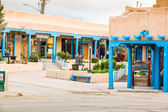 Buildings in Taos, which is the last stop before entering Taos P — Stock Photo
