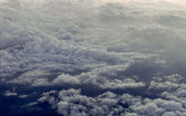 Dramatic grey clouds — Stock Photo