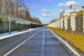 Beautiful winter road — Stock Photo