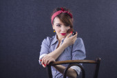 Pin Up girl portrait — Stock Photo