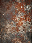 Metal surface with rust and corrosion. Grunge texture. — Stock Photo