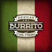 Mexican Burrito — Stock Vector