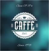 Caffe Bar Label — Stock Vector