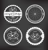 Cycling Badges — Stock Vector