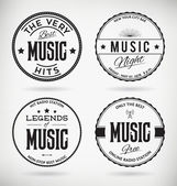 Music Badges — Stock Vector