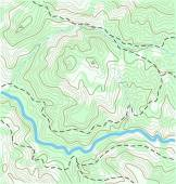 Topographic Map — Stock Vector