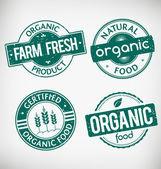 Organic Food Stamps — Vector de stock