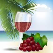 氷 13 ブドウ ジュースのガラス — ストックベクタ