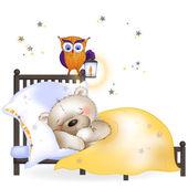 The bear sleeps — Stock Vector