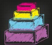 Zakelijke materialen — Stockvector