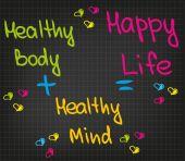 Happy Life — Stock Vector