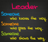 Leader — Stock Vector