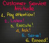 Customer Service attitude — Vector de stock