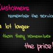 Постер, плакат: Customers remember service