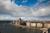 Budapest visa från gellert hill, ungern — Stockfoto