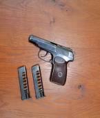 Gun on board — Photo