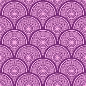 Vector seamless geometric pattern with detailed repeating rounds of different sizes. Abstractt background design. — Stock Vector