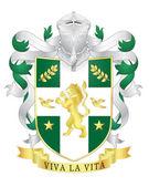 Vector heraldic royal crests coat of arms. Heraldry template — Stock Vector