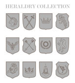 Vector heraldry emblem collection. Coat of arms template. — Stock Vector
