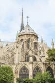 View of Cathedral Notre Dame de Paris - a most famous Gothic, Ro — Stock Photo