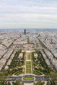 Paris aerial view — Stock Photo