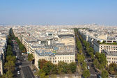The view from the roof of the diverse architecture of Paris. — Stock Photo