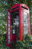 Disused telephone kiosk — Stock Photo