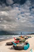 Boats on the beach of Da Nang city, Vietnam — Fotografia Stock
