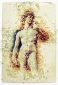 Dawid michała anioła — Wektor stockowy