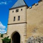 Karlstejn castle on green hill, Prague — Stock Photo #69090319