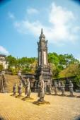 Tomb of Khai Dinh emperor in Hue, Vietnam. — Stockfoto