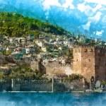 Castle of Alanya — Stock Vector #71440219