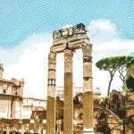 Ruins of the Roman Forum — Stock Vector #72276881