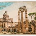 Ruins of the Roman Forum — Stock Vector #72276899