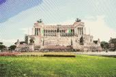 Memorial Vittoriano, Rome — Stock Vector