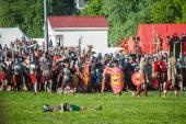 Historical reenactment of Boudicas rebellion — Stock Photo