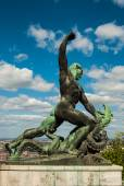 Liberty statue of Budapest — Stock Photo
