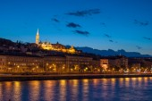 At night in Budapest Hungary — Stock Photo