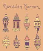 Doodles of mosques — Stock Vector
