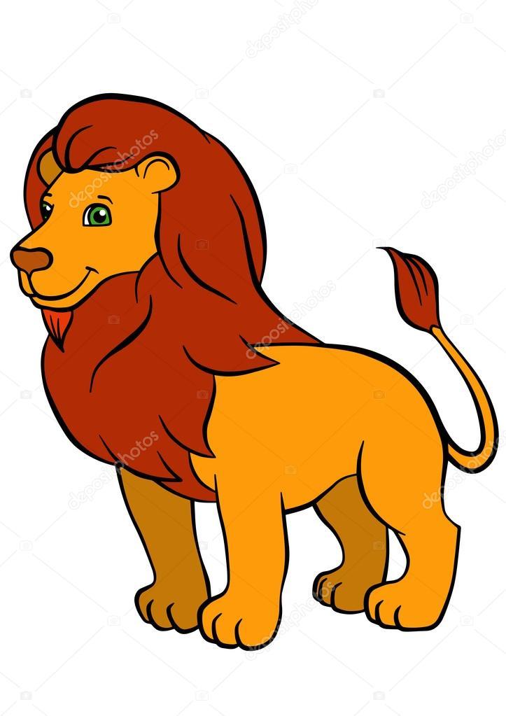 Картинки лев для детей