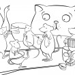 Cat gone from home, mice start dancing — ストック写真 #52351457