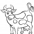 Kind smiling cow standing on the field — 图库照片 #67368439