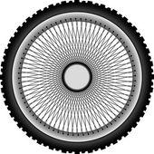 Motorcycle wheel — Stock vektor