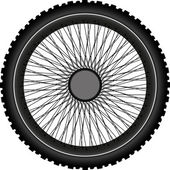 Motorcycle wheel — Stock Vector